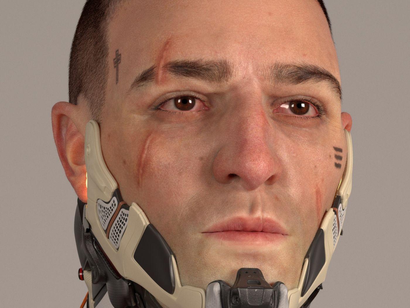 Cyberpunk 2077 Male design - Fan Art