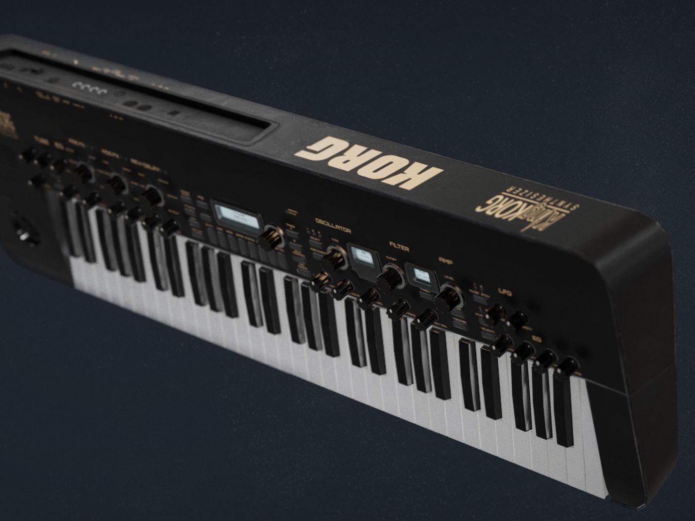 KingKorg Synthesizer Game ready asset
