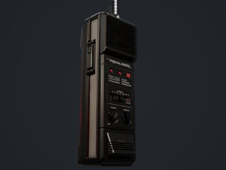 TRC-214 Realistic Walkie Talkie Game Ready Asset