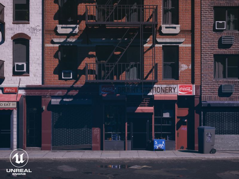 New York Storefront - UE4