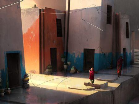Suburb street city (children of the sun)