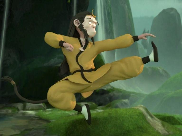 Monkey Kung Fu Training
