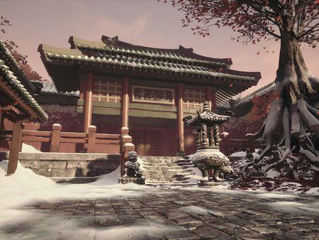 Snowy Temple