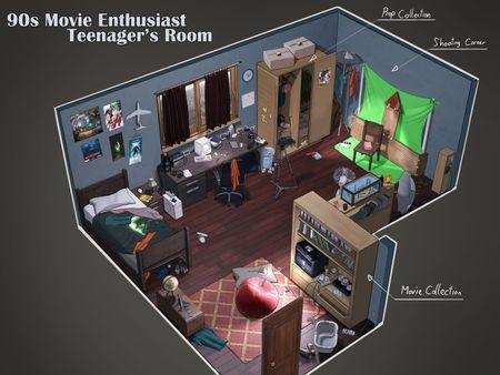 90s Movie Enthusiast Teenager's Room