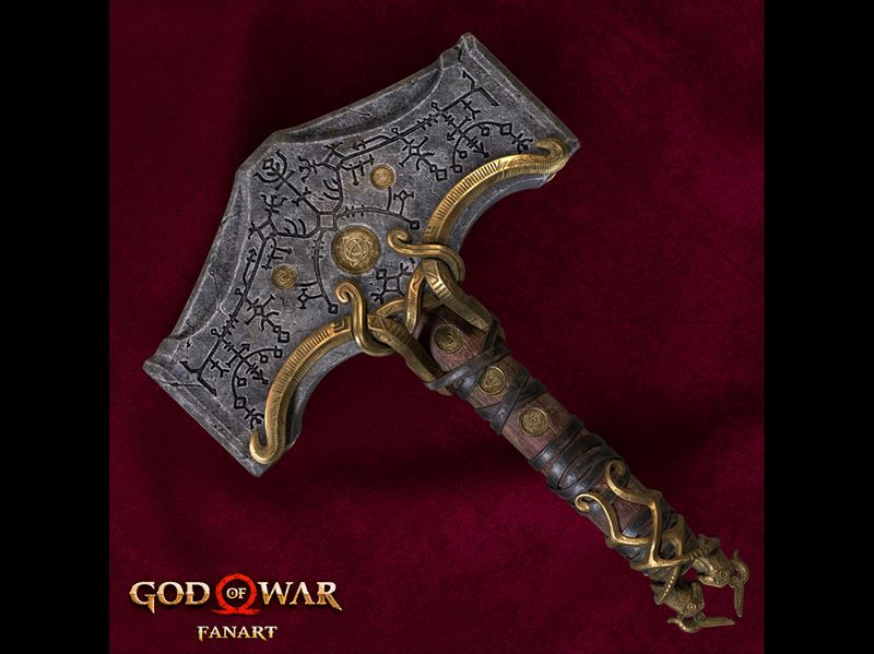 Mjolnir - God Of War (fan art)