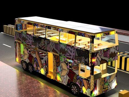 Convertible Double Decker Restaurant Bus.