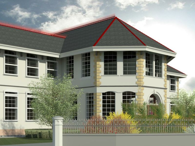 3D model of the National Library in Guyana