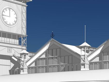 3D model of existing Stabroek Market in Guyana