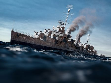 USS KIDD recreation