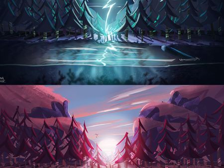 The Awakened Forest - Environment Concept Art