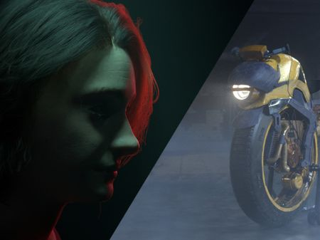 Digi Double and Motorcycle