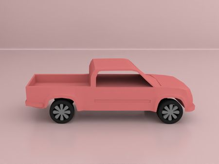 Low Poly Toy Truck