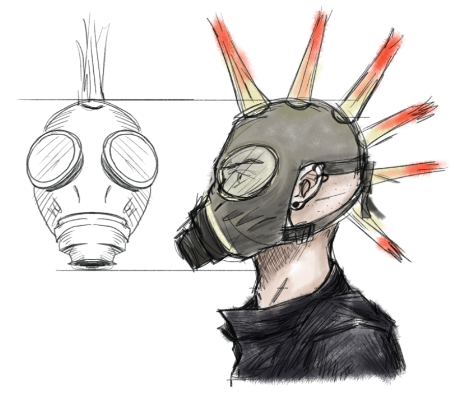Punk Mask Design1 Color Salomebusurashvili