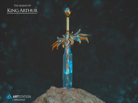 King Arthur's Excalibur - ArtStation Challenge