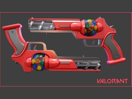 BubbleGum Sheriff Gun - Valorant Skin