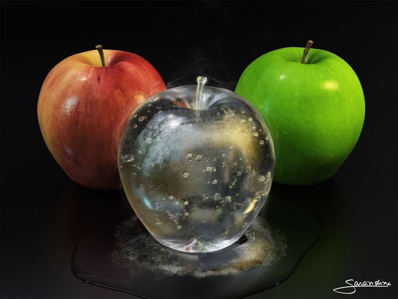 Apples - Green, Red and Ice