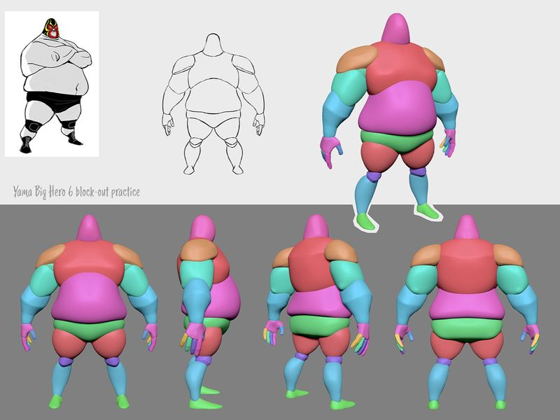 ZBrush block-out practice
