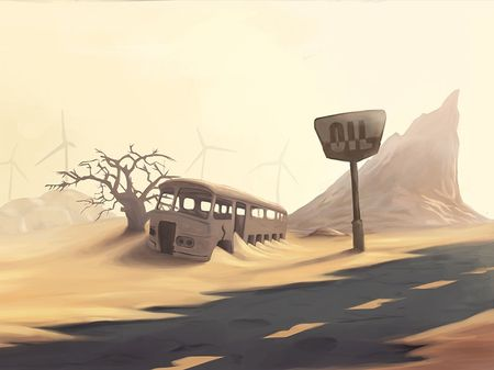 Post-apocalyptic backgrounds