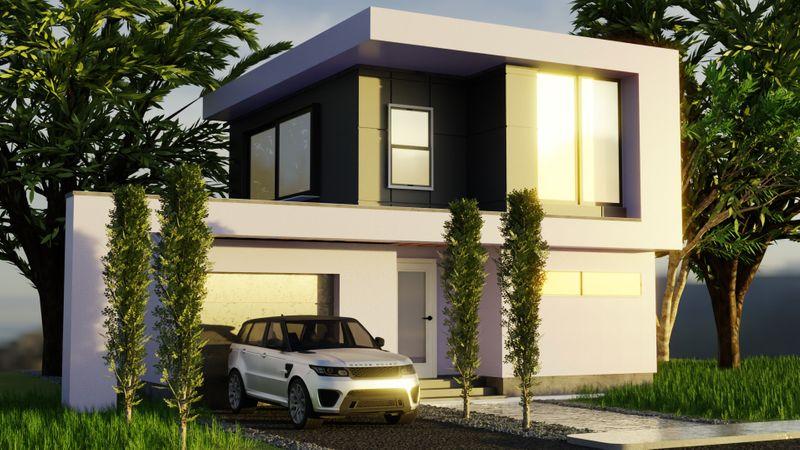 Modern House Exterior Render