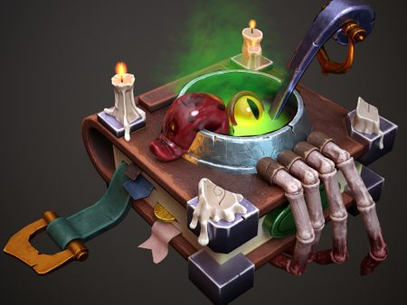 3D Witch's book