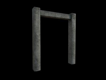 Aged Stone Wall Trim Model