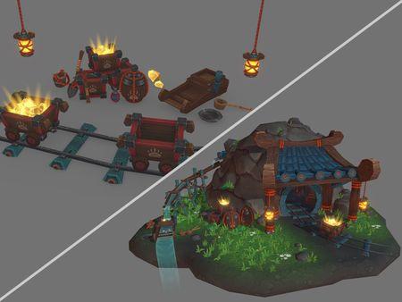 Pandaren Gold Mine - Prop Set & Diorama