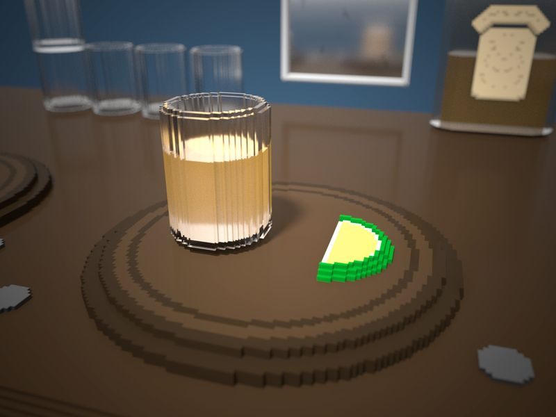 Weekly Drill - Voxel Tequila Scene