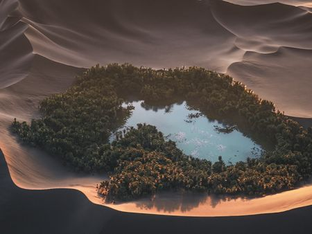 Lake Among the Dunes