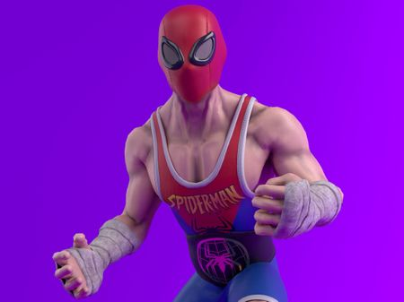 Spider-Man Character Design for the Street Fighter Universe