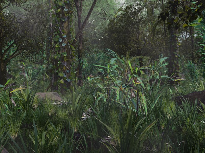 Jungles Matte painting