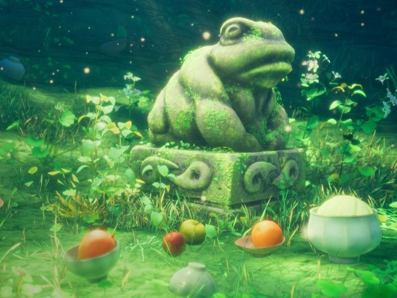 Stylised Toad Statue