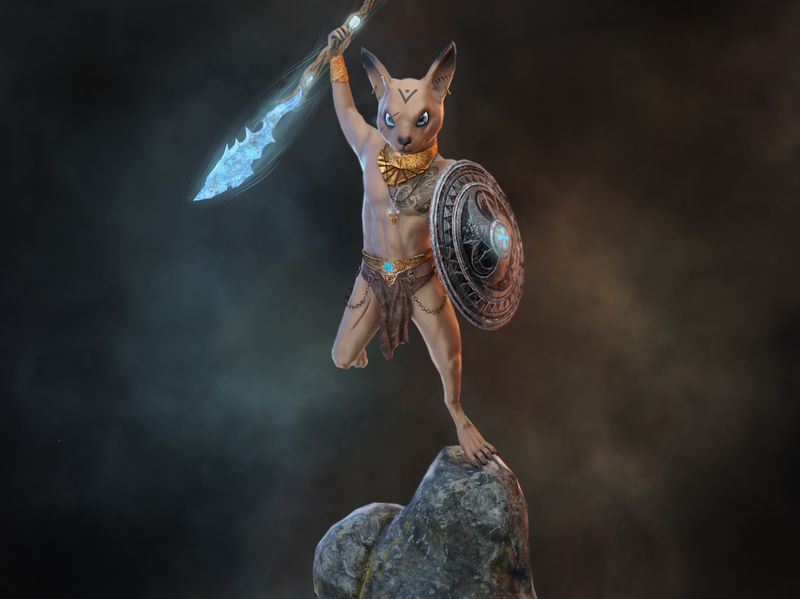 Mouse Warrior- Game Character