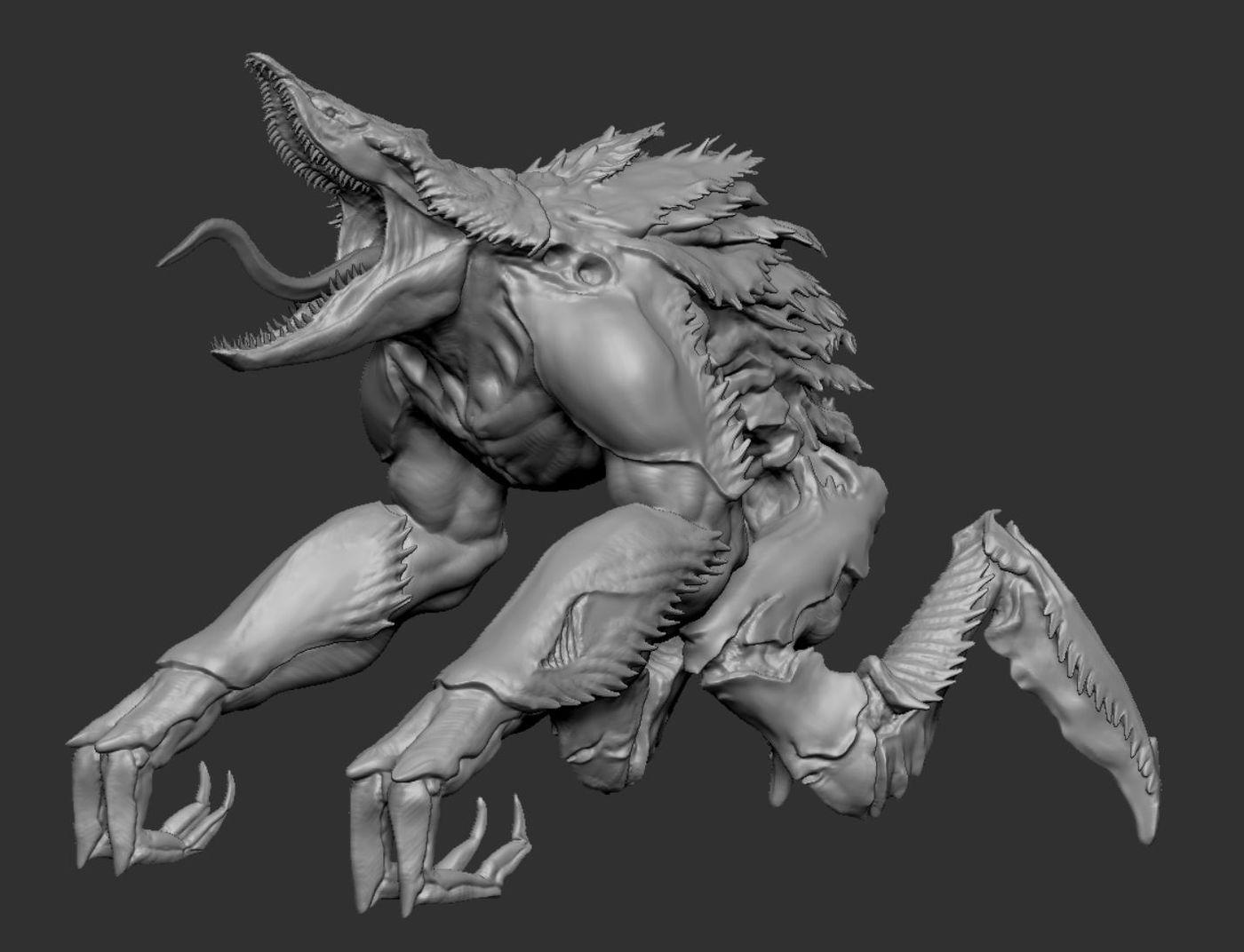 WIP Crustation Creature Sculpt