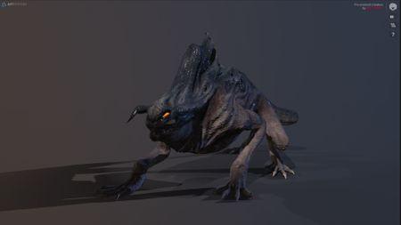 VR Metamorphosis Final Major Project Pre-Evolved Creature