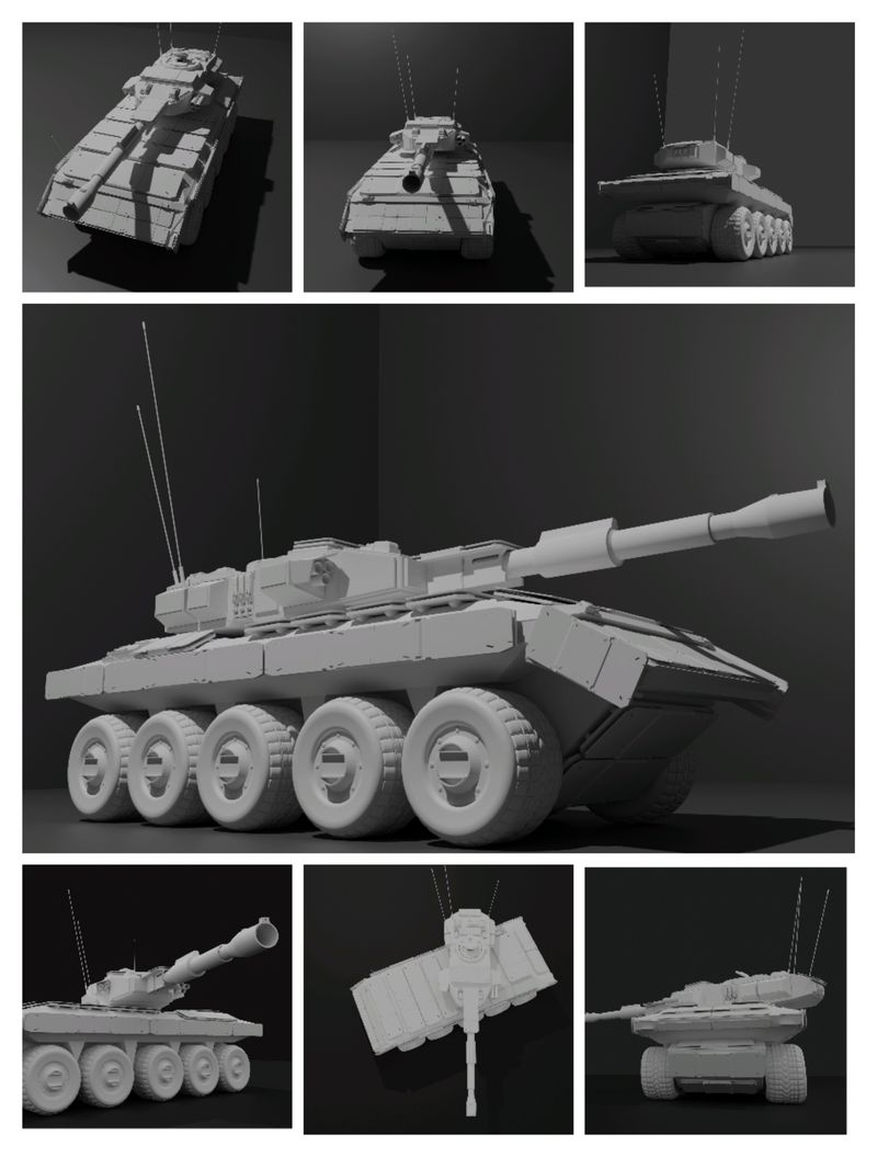Video Game Tank Design : Obsidian Hellcat