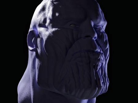 Thanos Face Sculpt In Blender