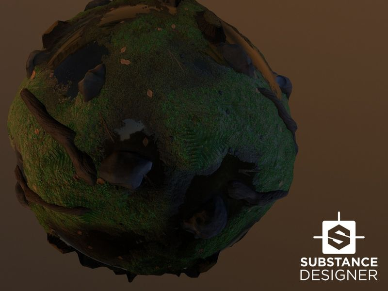 Substance Forest Ground Material