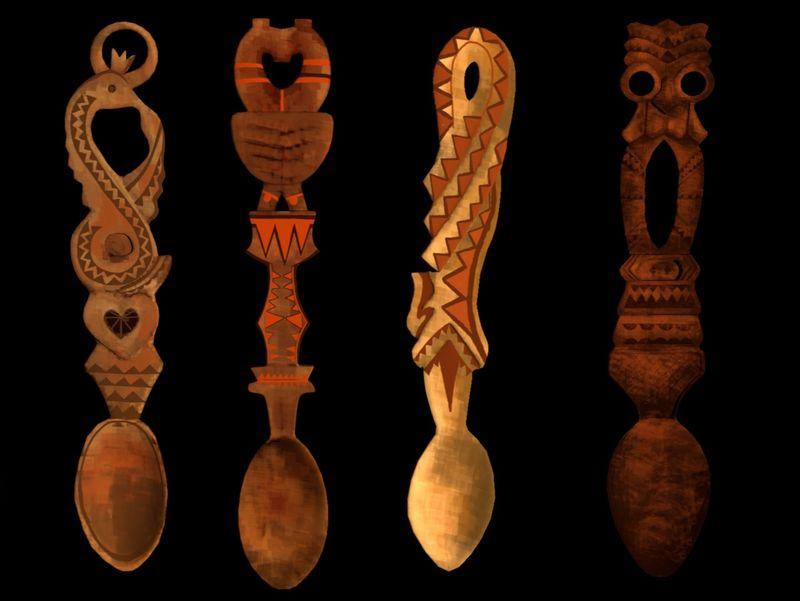 Romanian Spoons Texture