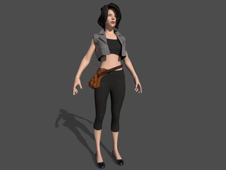 3D Female Gaming Character