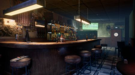 UE4 Jimmy's Bar. Detroit: become Human environment