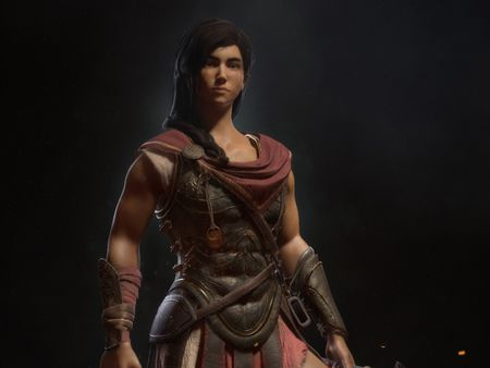 Assassin's creed odyssey. Kassandra game character fan art.