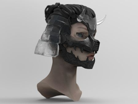 Mecha - Samurai Helmet/Mask WIP