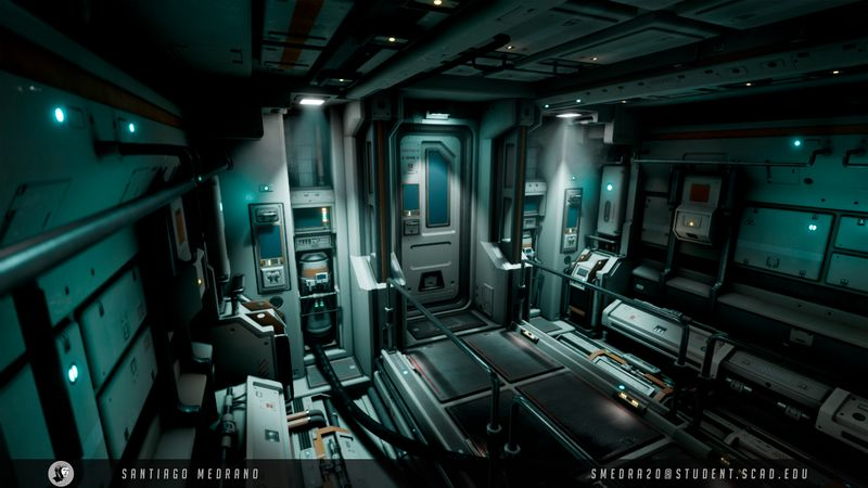 Alien: Covenant - Inspired Sci-Fi Hallway