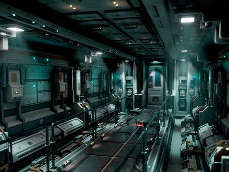 Alien: covenant Inspired Sci-Fi Hallway