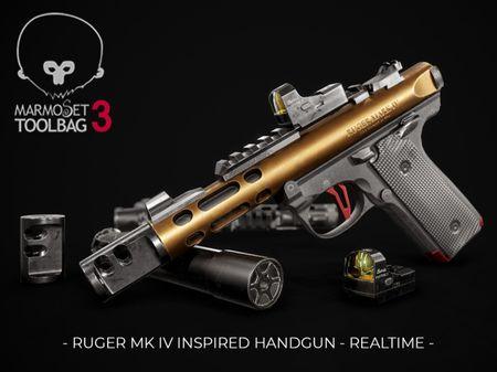 Ruger MK IV inspired handgun - Reltime