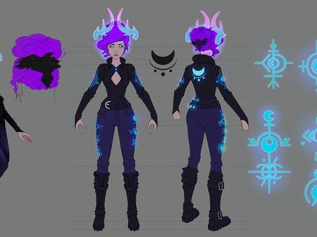 Crescent Falls - Heather Character Design