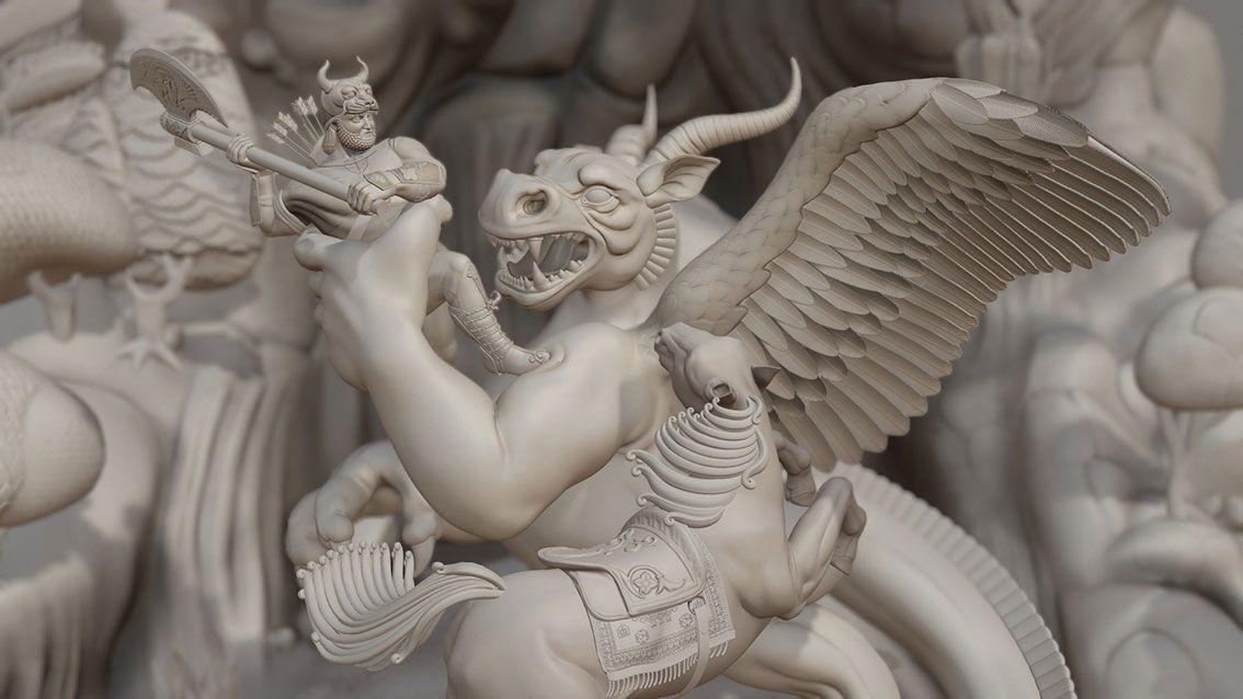 Rostam and Dragon