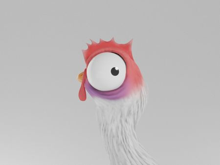 Stylised Chicken Character