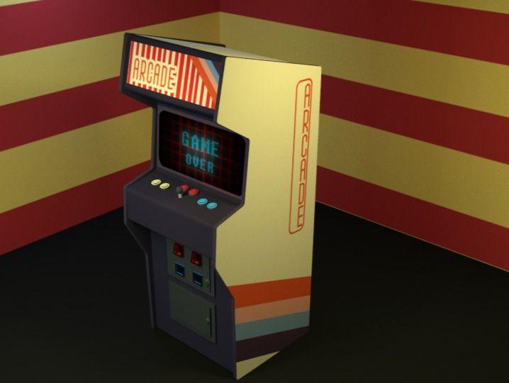 Retro arcade game box