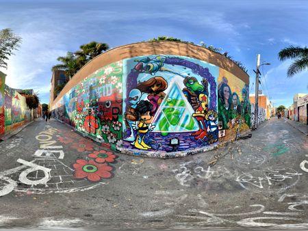 Clarion Alley 360° Graffiti Animation